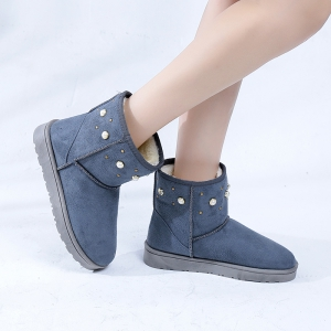 The Winter Snow Boots With Thick Velvet Flat Comfortable Warm Boots Women Shoes - OYSTER 39