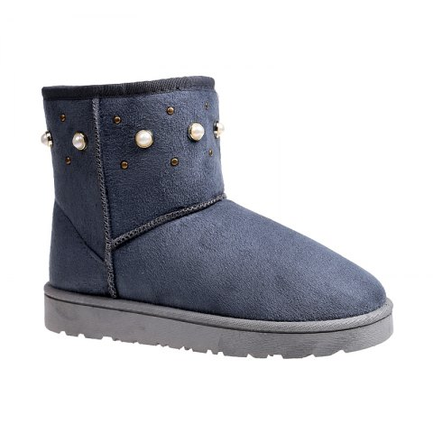 Outfit The Winter Snow Boots With Thick Velvet Flat Comfortable Warm Boots Women Shoes - 39 OYSTER Mobile