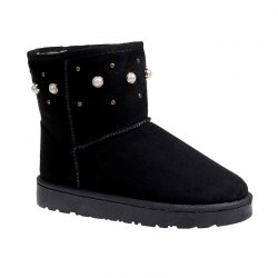 The Winter Snow Boots With Thick Velvet Flat Comfortable Warm Boots Women Shoes - BLACK 36