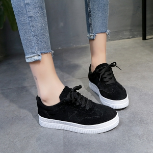 The Fall Of The New Flat Lace Up Shoes - BLACK 39