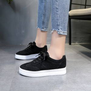 The Fall Of The New Flat Lace Up Shoes - BLACK 37