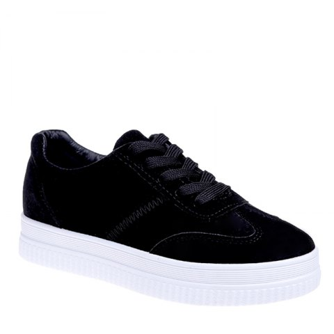 Shops The Fall Of The New Flat Lace Up Shoes BLACK 37