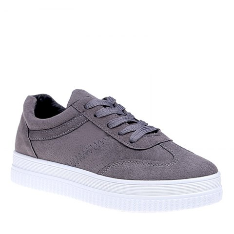 Hot The Fall Of The New Flat Lace Up Shoes - 37 OYSTER Mobile