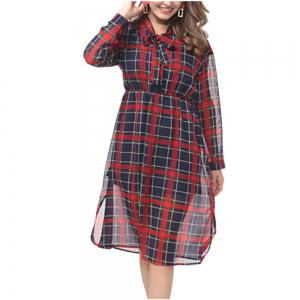 The Fall New Lady Bump Color Mesh Dress -