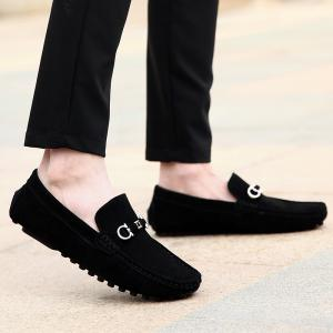 Doug Shoes Men'S Casual Shoes Leather Shoes Flat Shoes All-Match Leather Shoes -