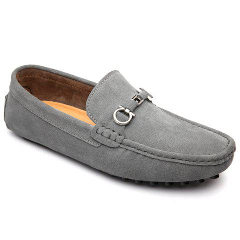 Affordable Doug Shoes Men'S Casual Shoes Leather Shoes Flat Shoes All-Match Leather Shoes GRAY 42