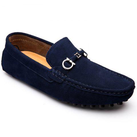 New Doug Shoes Men'S Casual Shoes Leather Shoes Flat Shoes All-Match Leather Shoes