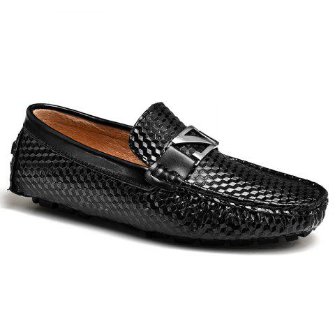 Outfits Doug Shoes Men'S Driving Shoes Nightclub Flats Comfortable Soft Soled Shoes BLACK 43