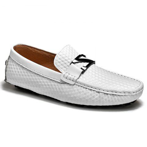 Cheap Doug Shoes Men'S Driving Shoes Nightclub Flats Comfortable Soft Soled Shoes - 43 WHITE Mobile
