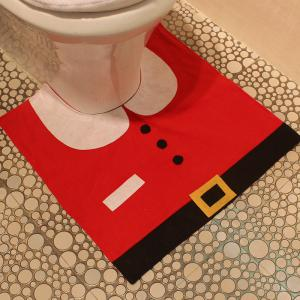 Creative Christmas Decoration 3PCS Santa Claus Toilet Cover Sets -