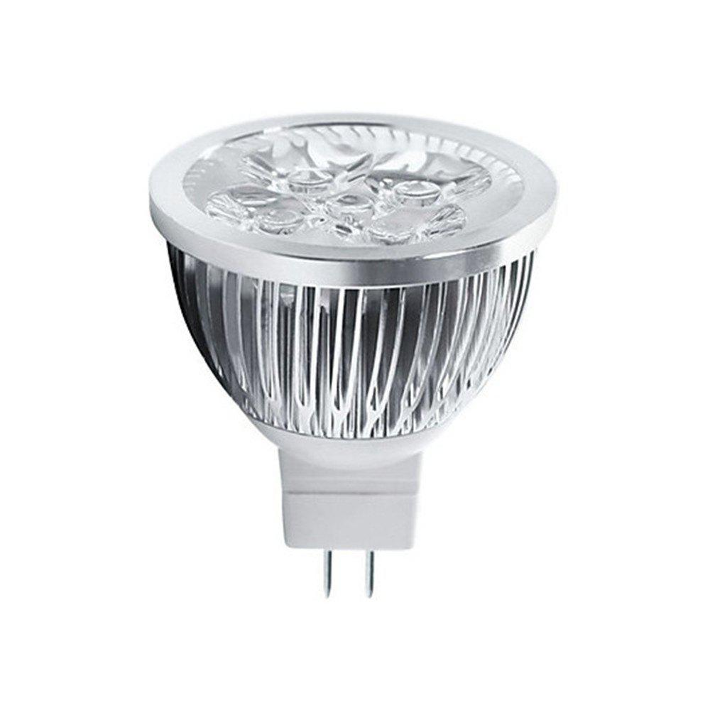 OMTO 4W 320LM MR16 4 High Power LED SpotlightHOME<br><br>Color: WARM WHITE LIGHT; Type: Spotlights; Application: Bathroom,Bed Room,Dining Room,Fishing,Foyer,Kitchen,Study; Bulb Base Type: MR16; Body Color: Silver; Is Dimmable: Yes; Material: Aluminum; Power Source: DC; Voltage: 12V; Wattage: 4W; Color temperatures: 3000K,6000K; Lumens: 320;