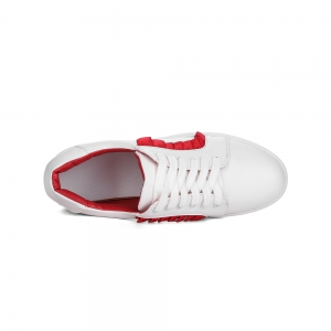 Women's Sneakers Color Block Breathable Sports Trendy All Match Shoes - RED 36