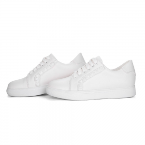 Women's Sneakers Color Block Breathable Sports Trendy All Match Shoes - WHITE 38