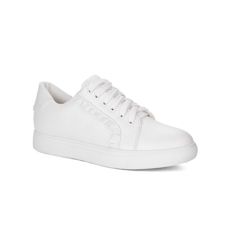 Latest Women's Sneakers Color Block Breathable Sports Trendy All Match Shoes - 35 WHITE Mobile