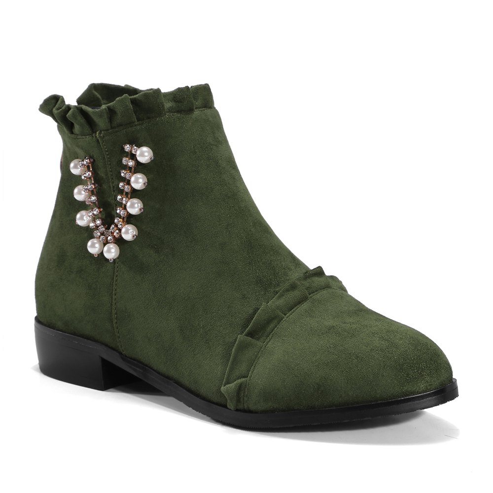 New Women's Ankle Boots Thick Heel Low Heel Simple Stylish Boots