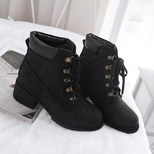 Women's Martin Boots Casual Lace Up All Matched Simple Style Vogue Shoes -