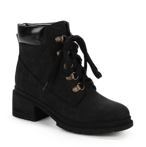 Latest Women's Martin Boots Casual Lace Up All Matched Simple Style Vogue Shoes