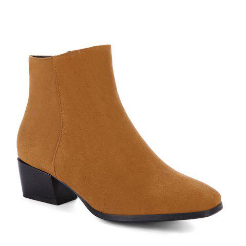 Discount Women's Snow Boots Solid Color Low Heeled Fashion Boots