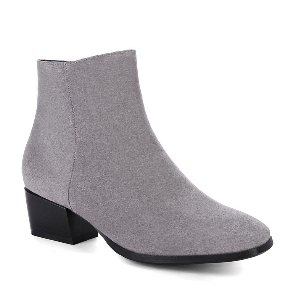 New Women's Snow Boots Solid Color Low Heeled Fashion Boots