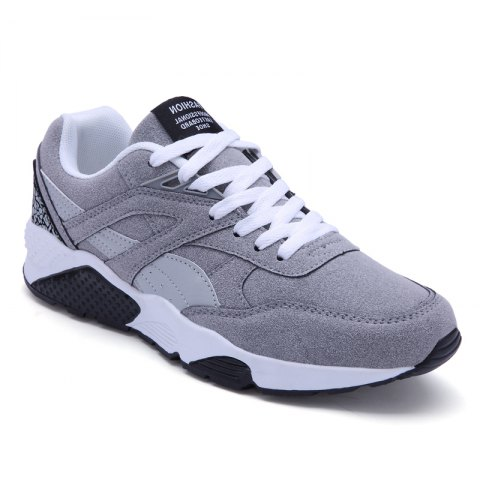New Men Casual Shoes  leisure Sports Shoes Fashion Sneakers - 44 GRAY Mobile