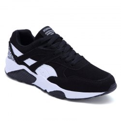 Men Casual Shoes  leisure Sports Shoes Fashion Sneakers - BLACK 42