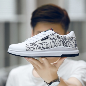 2017 Autumn New Korean Version of The Trend of Men'S Shoes Wild Canvas Shoes Men'S Autumn Shoes Low To Help Shoes Casual Shoes -