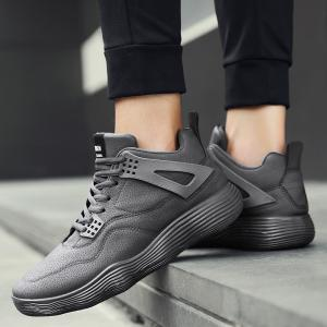 Male Sports Shoes Running Shoes Student Shoes Fall Basketball Shoes - GRAY 43