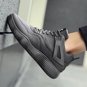 Male Sports Shoes Running Shoes Student Shoes Fall Basketball Shoes - GRAY 44