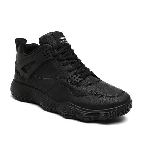 Unique Male Sports Shoes Running Shoes Student Shoes Fall Basketball Shoes - 40 BLACK Mobile