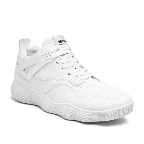 Unique Male Sports Shoes Running Shoes Student Shoes Fall Basketball Shoes - 44 SNOW WHITE Mobile