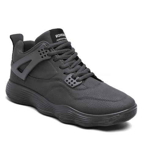 Unique Male Sports Shoes Running Shoes Student Shoes Fall Basketball Shoes - 39 GRAY Mobile