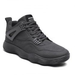 Male Sports Shoes Running Shoes Student Shoes Fall Basketball Shoes - GRAY 41