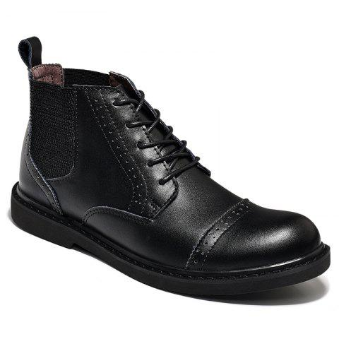 Shop Martin Boots Men Boots Men'S Boots Real Leather Boots High Shoes Men'S British Vintage Boots Autumn Desert Boots Men'S Shoes