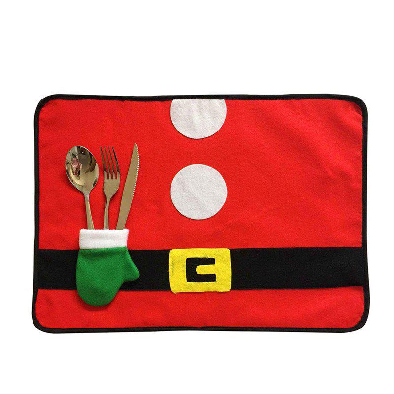 AY - hq247 Christmas Decoration Green Gloves Table MatsHOME<br><br>Color: RED; Material: Nonwoven; Usage: Christmas,New Year,Party,Wedding;