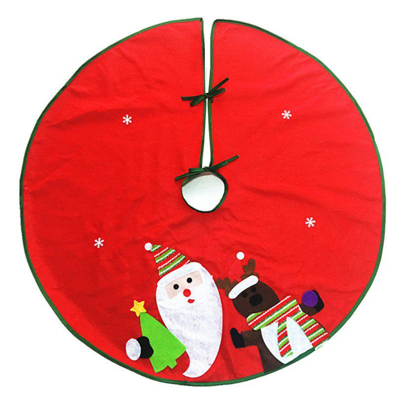 AY - hq248 Christmas Decoration Santa Claus and Elk Pattern Tree SkirtHOME<br><br>Color: COLORMIX; Material: Nonwoven; Usage: Christmas,New Year,Party;