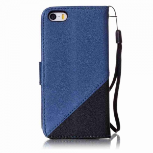 Stitching Style Golden Beach Pu Phone Case for iPhone 5 / 5S / 5C / Se -