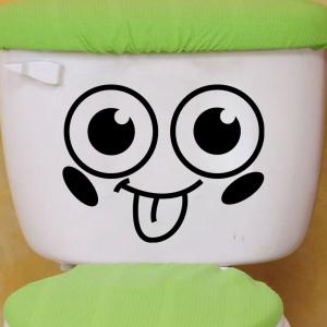 Smile Face Toilet Stickers DIY Personalized Furniture Decoration -