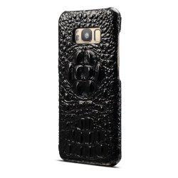 Wkae High Quality Luxury 3D Crocodile Grain Texture Genuine Leather Bumper Case Shock Resistant Hard Back Cover For Samsung Galaxy S8 -