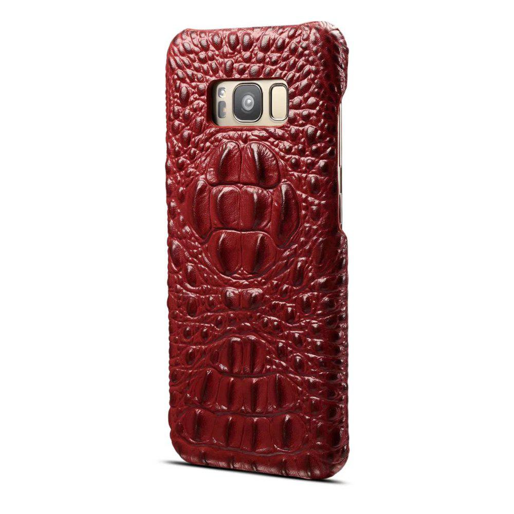 Shops Wkae High Quality Luxury 3D Crocodile Grain Texture Genuine Leather Bumper Case Shock Resistant Hard Back Cover For Samsung Galaxy S8