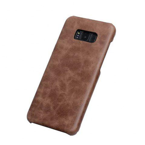 New Wkae Genuine Leather Durable Back Cover Retro Frosted Shell Case For Samsung Galaxy S8 Plus