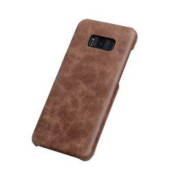 Wkae Genuine Leather Durable Back Cover Retro Frosted Shell Case For Samsung Galaxy S8 Plus -