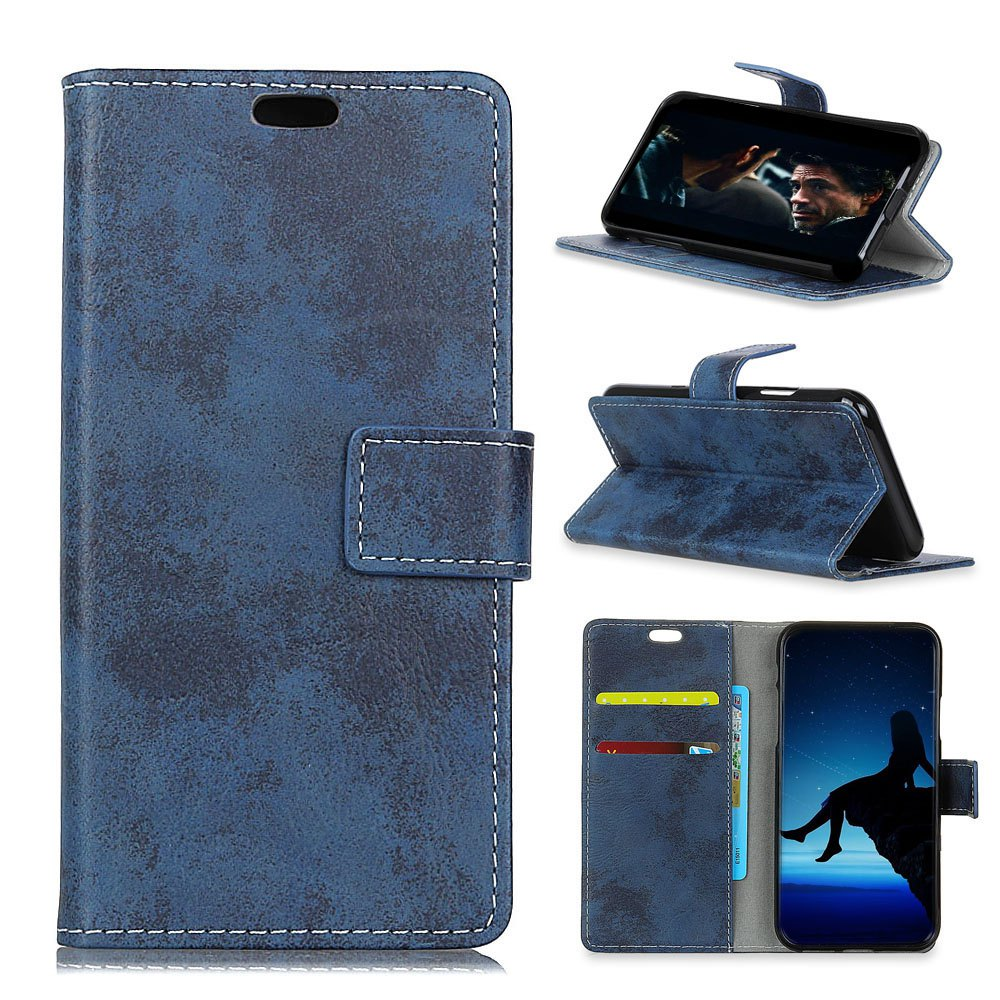 Discount Durable Retro Style Solid Color Flip PU Leather Wallet Case for Motorola Moto X4