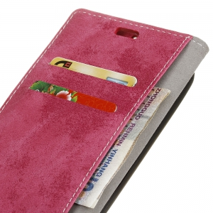 Durable Retro Style Solid Color Flip PU Leather Wallet Case for Nokia 8 -