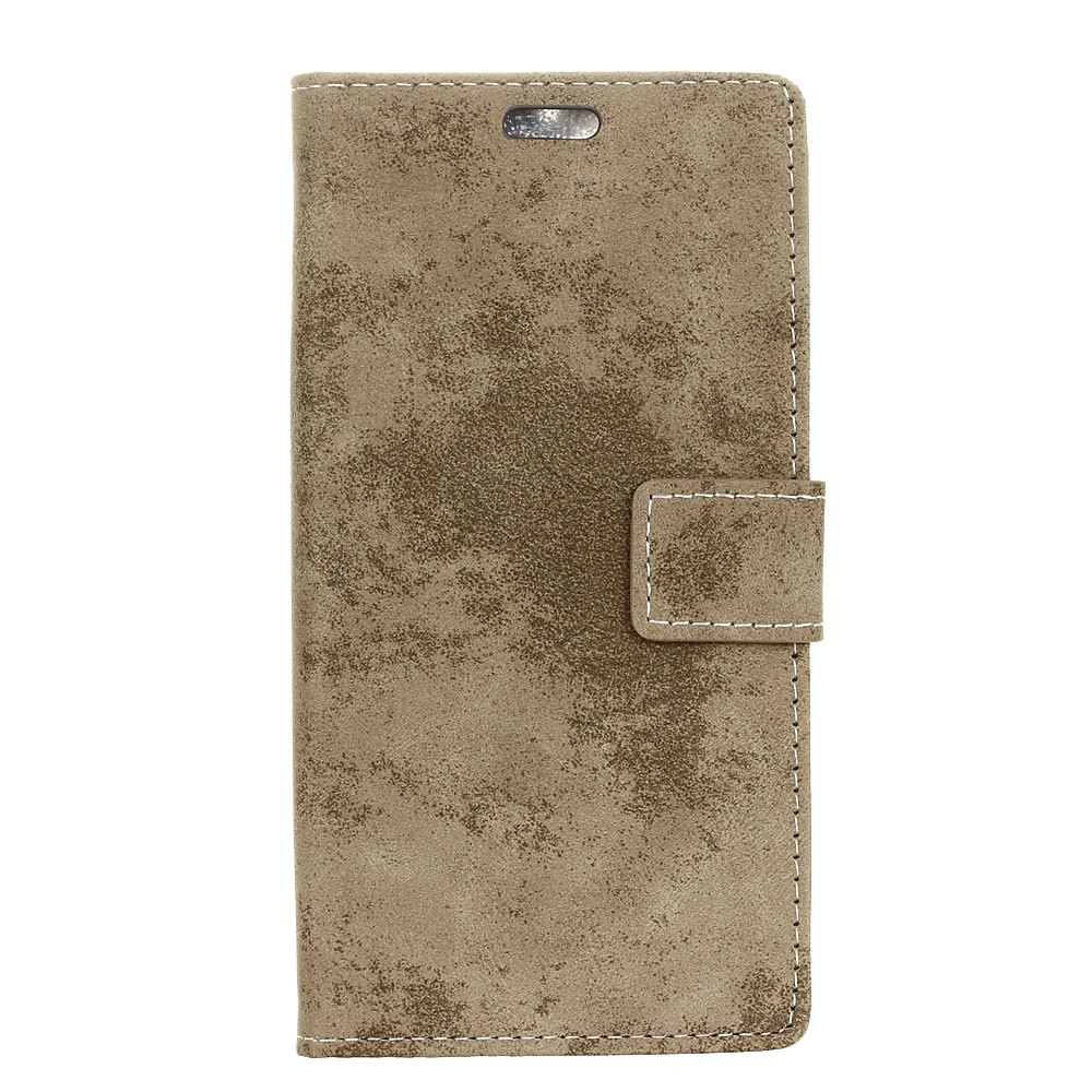 Fancy Durable Retro Style Solid Color Flip PU Leather Wallet Case for Nokia 8
