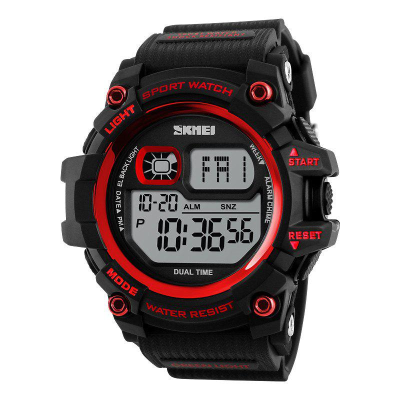 SKMEI LED Men Outdoor Shockproof Electronic WatchJEWELRY<br><br>Color: FLAME; Brand: Skmei; Watches categories: Men; Watch style: Fashion;
