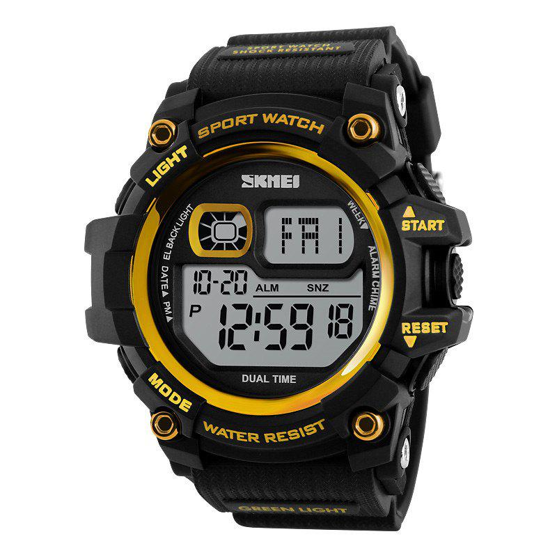 SKMEI LED Men Outdoor Shockproof Electronic WatchJEWELRY<br><br>Color: GOLDEN; Brand: Skmei; Watches categories: Men; Watch style: Fashion;