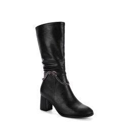 Women's Bottine Metal Chain Decor Elegant Boots -