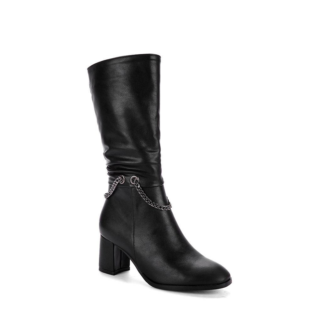 Online Women's Bottine Metal Chain Decor Elegant Boots