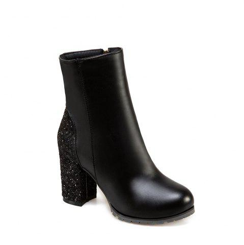 Hot Women's Boots All Match Color Contrast Ankle Shoes