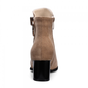 Women's Ankle Boots Metal Decor Faddish Boots -
